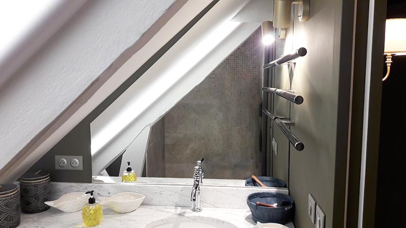 Réalisation de salle de bain par Elégance Bois - Artisan Créateur à Remouillé (44) - Agenceurs sur mesure