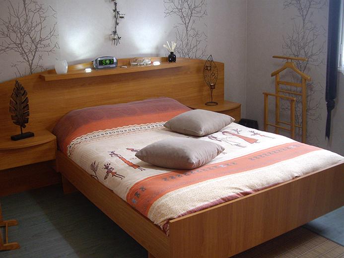 Meuble tête de lit pour suite parentale - Réalisation de chambre par Elégance Bois - Artisan Créateur à Remouillé (44) - Agenceurs sur mesure