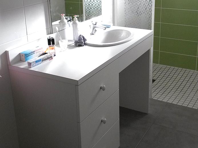 Agencement meuble de Salle de bain pour personne à mobilité réduite - Réalisation de salle de bain par Elégance Bois - Artisan Créateur à Remouillé (44) - Agenceurs sur mesure
