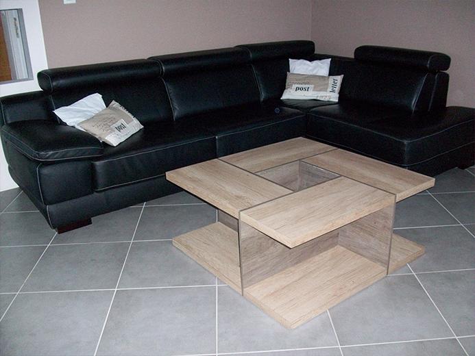 Table de salon design - Réalisation d'aménagement intérieur par Elégance Bois - Artisan Créateur à Remouillé (44) - Agenceurs sur mesure